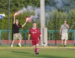Grammy from KaisAyr gets into the spirit of the weekend during Friday's IFA Cup Final