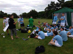 Manchester City learn all about 'checking their balls' from a member of the Mark Gorry Foundation