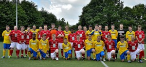Crawley & Coventry line up before Saturday's game